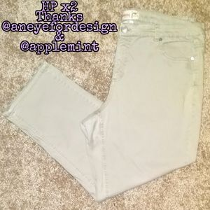 Just My Size (JMS) denim tan jeans (22W short)